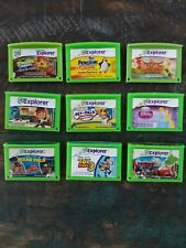 Lot of 9 Leapfrog Explorer & Leapster Game Cartridges Spongebob Disney Pixar