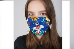 Latest Highly Quality For Kids Face Mask Cartoon Design Color Blue And Washable