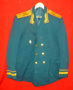 1968 Russian Soviet Army Engineers General Major Parade Uniform Jacket RR USSR