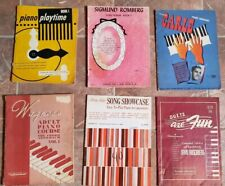 6 Piano Song Books Arrangements Romberg Piano Course Hirschberg Carle