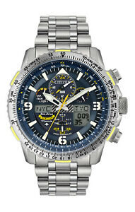 New Citizen Promaster Skyhawk Blue Angels Atomic Titanium Watch JY8101-52L