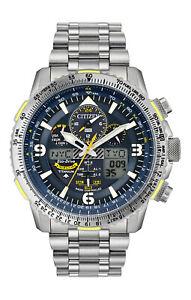New Citizen Promaster Skyhawk Blue Angels Atomic Titanium Watch JY8101-52L