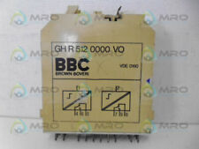 BROWN BOVERI GH R 512 0000 VO OUTPUT MODULE RELAY *USED*