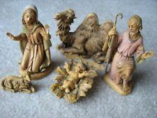 6 Piece Lot Fontanini Nativity Jesus Joseph Mary Camel Sheep