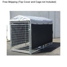 Kennel Screen Cover Side Panel Shade Wind Sun Cage Crate Outdoor Dog Pet Pen Kit