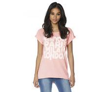 Brave Soul Womens Size Small Peach Sorbet Top T-Shirt