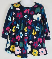 Hanna Andersson Print Day Play Dress Navy With Flowers NWT