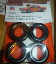 PPP NASCAR 1/25 LMSF FIRESTONE LATE MODEL 60-70s TREAD TIRES SET STOCK CAR