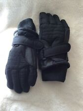 Thinsulate Snow Gloves Cold  Ski Winter Boys Size 4-7 Black, Insulation 40 Gram*