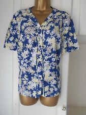 """SMART BUTTON THROUGH TOP BY EASTEX IN VG CON SIZE UK 18 BUST 44"""""""