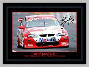MARK SKAIFE V8 COMMODORE VX A3 SIGNED FRAMED ACTION PHOTO