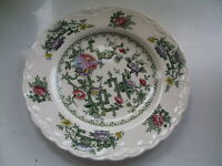 Crown Ducal Chinese Garden 17.5cm Diameter Side Plate - Good Used Condition