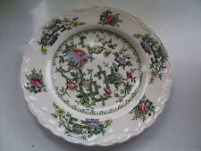 Crown Ducal Chinese Garden 17.5cm Diameter Side Plates - Good Used Condition