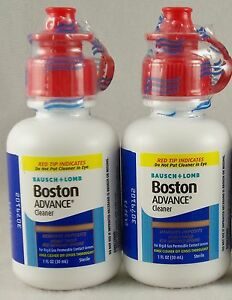 Bausch Lomb Boston ADVANCE Cleaner dated NOVEMBER 2022 - 2 bottles (30 ml.) each