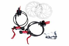 MOWA MX1 Mountain MTB Cyclocross Cycling Bike Disk Rotor Brake Set 160mm in Red