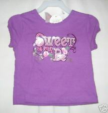 GIRLS 12 MONTH PURPLE SWEET AS CAN BE S/S SHIRT NWT ~ KID CONNECTION