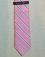 JONES NEW YORK MENS PINK STRIPED 100% SILK NECK TIE NEW WITH TAGS