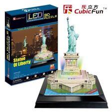 Puzzle CUBIC Fun 37 PEZZI-PUZZLE 3d con LED-Statua della Libertà (41345)