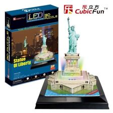 Puzzle Cubic Fun 37 Teile - Puzzle 3D mit LED - Freiheitsstatue (41345)