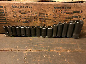 """Snapon Metric Impact Sockets  - 3/8"""" Drive - 6 Point"""