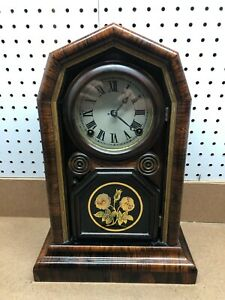 Antique 1880's E.N. Welch 8 Day Clock Beautiful Case In Great Condition , No Res