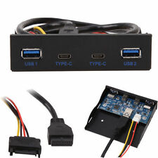 2 Port USB 3.1 Type C USB 3.0 A HUB to 20 Pin Header Front Panel Floppy Disk Bay