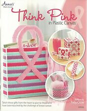 Think Pink in Plastic Canvas Instruction Pattern Annie's Attic Breast Cancer