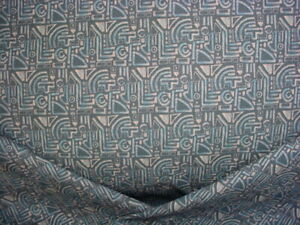 4Y ROUSE PHILLIPS INCA VOL 2 NAVY GEOMETRIC COTTON PRINT UPHOLSTERY FABRIC