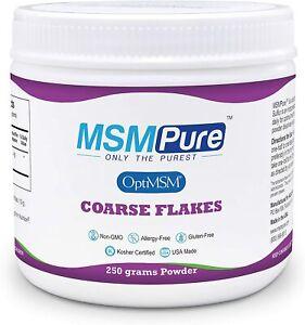 Kala Health MSMPure Coarse Powder Flakes, 8.8 oz, Organic Sulfur Crystals,...