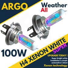2x H4 Arco Iris 100w Bombillas Xenon Blancas Luz De Marcha Delante FARO 12v