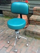 Lot Of 7 Clinton Doctors Adjustable Exam Stool / Chair With Backrest - Very Nice