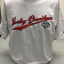 """Harley-Davidson Men's S/S large t-shirt """"script"""" Gray vintage Holoubek 1997"""