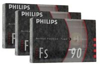 Philips Ferro FS 90  Lot 3 Cassette Audio Neuf Scellé ( Réf#V-040)
