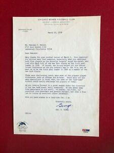 """1978, George Halas """"Autographed"""" (PSA) Letter  (Scarce / Vintage)"""