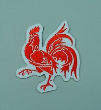 patch, écusson, coq wallon, coq rouge  6/5.5cm