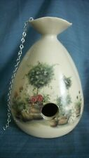 "YESTERYEARS POTTERY Hanging Birdhouse Hand Painted Made in Marshall Texas  ""NEW"""