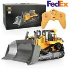 US Stock 1:16 Scale 9CH Huina 1569 RC Bulldozer RC Excavator Industrial Vehicle✅