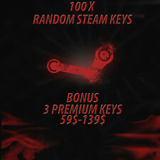100 X Random Steam Keys  + 3 PREMIUM KEYS (PREMIUM KEYS VALUE 59$-139$)