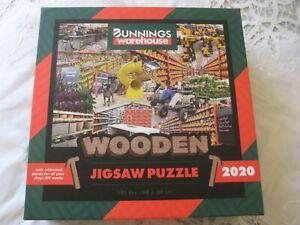 BUNNINGS - JIGSAW PUZZLE -MR BOB AUSTRALIAN MADE WOODEN PUZZLE