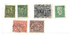 GERMANIA :  DEUTSCHES REICH - BAYERN - 6 valori  usati 1916- 1928