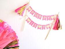 HOT Rosa E Oro Bunting cake topper | Battesimo | Doccia | Compleanno | Smash