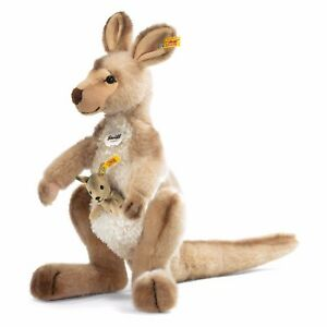 Steiff 064623 Kango Kangaroo With Baby 15 11/16in