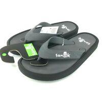 Sanuk Men's Sidewalker Flip-Flop Grey Black size 8 1095551-GRB NEW