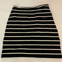 Banana Republic Womens NWT Size 0 Pencil Skirt W/T Pockets Black/White Striped