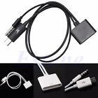 Micro USB to 30 Pin Audio Adapter Charger Cable Fr iPhone 4 4S To V8 Samsung