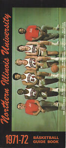 1971-72 Northern Illinois Basketball Media Guide HC Jorgensen NBA Jim Bradley