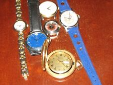 Lot of six Watches not working Bulova Accutron yankees gucci fossil sergio uno