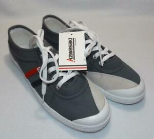 Men's NWT Kawasaki Retro Canvas Tennis Shoe Sneakers Gray 44/10.5 TURBULENCE