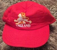 Baseball Cap Hat Red England Lion Front Logo Snapback Fasten One Size Fits All