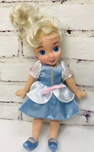 "Disney Playmates Plush Body Cinderella Doll Lovey 13"" Plastic Face 2006"